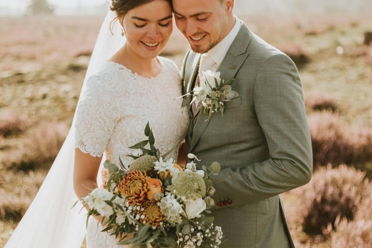 <span>Bruidsboeket, Bruidswerk, corsages, Locatie Bloemwerk</span>Bruiloft